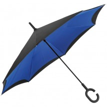 Omklapbare paraplu - blauw