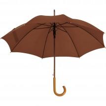 Automatische houten paraplu Nancy - bruin