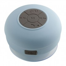 Bluetooth® douche luidspreker met radio REFLECTS-AVIGNON LIGHT BLUE