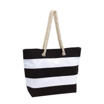 "Beach bag ""Sylt"" 300D, black/white"