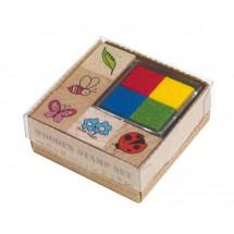 """Wooden Stamp Set""""Fancy"""""""