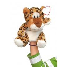 "plush hand-puppet leopard ""Leevi"""