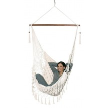 """Hanging chair, cotton, nature """"Hang out"""""""
