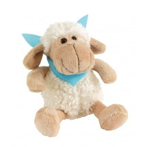 "Plush sheep ""Rosi"" w turquois scarf"