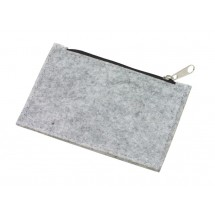 "felt coin purse ""Collector"", grey"