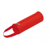"Pen bag round ""School"", red"
