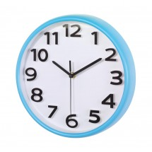 "wall clock ""Halley"" , light blue"