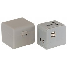 International Travel Plug Adapter, grey
