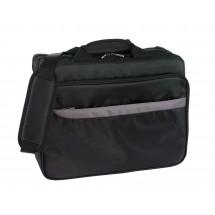 "document bag ""Oxford"" 420D, black/grey"