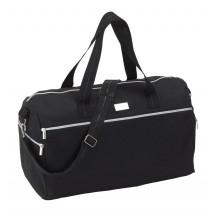 "Sports bag ""silver line"" 600D, black"