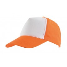 "5-Panel Baseball-Cap ""Shiny""orange/white"