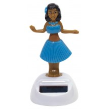 "Solar dancing girl ""Hula"", blue"