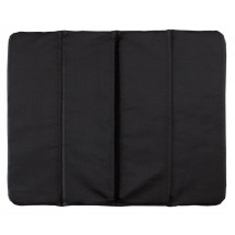 Chair cushion, 3times foldable, Black