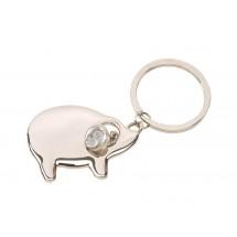 """Metal keyholder """"Pig"""", silver"""