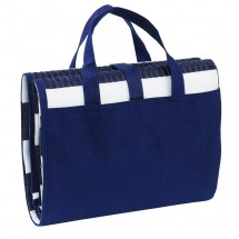Beach mat + inflat. cussion as bag, blue