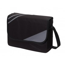 "shoulder bag ""City"" 600D,black/grey"