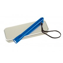 Aluminium torch w/ batteries, blue