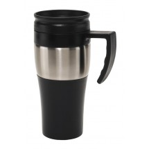 """Stainless steel mug with lid """"Hot drink"""""""