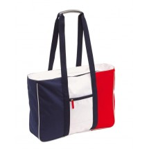 "Beach bag, 600D, ""Marina"" blue white/red"