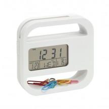 "LCD alarmclock ""Helpdesk"", white"
