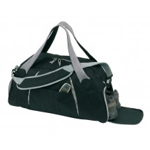 "Sports bag ""Africa"" 600D, black/grey"