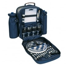 "Picnic backpack, 4 P., blue ""Hyde Park"""