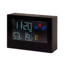 Weather forecast clock w/ color display