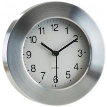 "Alum. wall clock, round,""Venus"", silver"