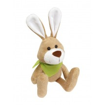 "Plush rabbit ""Minna"" with green scarf"