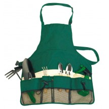 "Garden Apron,green/beige ""Evergreen"""