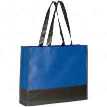 Non-woven shopping bag - blauw