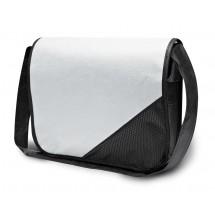 """Collegebag """"Wiesbaden"""" - wit/zwart"""