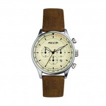 Chronograph REFLECTS-PILOT beige/bruin