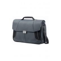 Samsonite XBR Briefcase 3 Gussets 15.6''-Grijs/Zwart