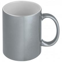 Metallic glanzende koffiemok - grijs