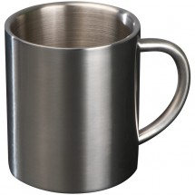 Beker van metaal - grijs