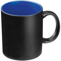 Zwarte beker met gekleurde binnenkant - blauw