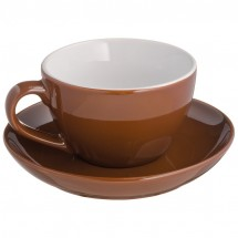 Cappucino kopje keramiek - bruin