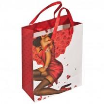 Geschenkverpakking man/vrouw met steentje -