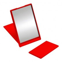 Pocket spiegeltje - rood