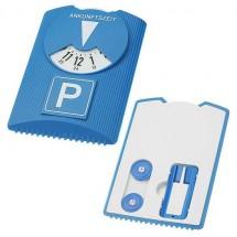 Design parkeerschijf met ijskrabber - blauw/wit/blauw