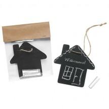 Krijtbordje Huis - zwart