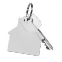 Sleutelhanger huis - transparant