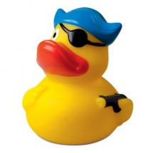 Badeend Piraat met hoed en ooglapje - geel