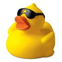 Badeend met zonnebril - geel