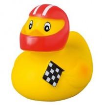 Badeend Motorcoureur - geel