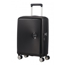 American Tourister Soundbox Spinner 55 EXP.-Bass Zwart
