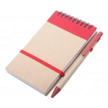 Notitieboek ''Ecocard'' - Rood