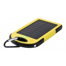 Usb Power Bank Met Zonne Energie Lader ''Lenard'' - Geel