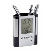 Pennenhouder Met Klok, Thermometer ''Loris''
